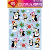 Glossy Stickers Pinguine 01