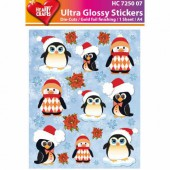 Glossy Stickers Pinguine 09