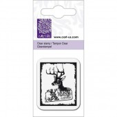 Clear stamp, Reindeer Xmas