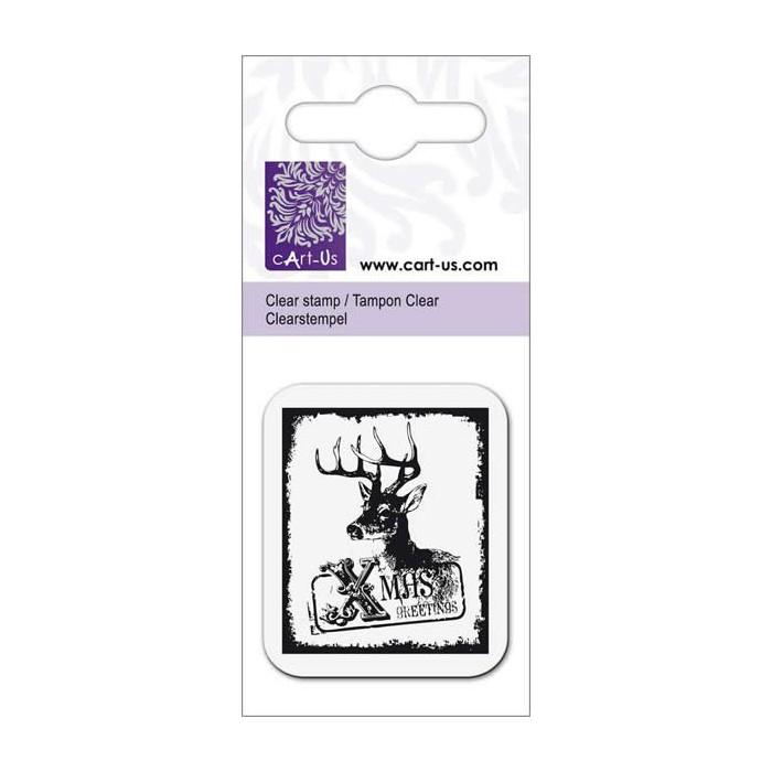 Clear stamp, Reindeer Xmas