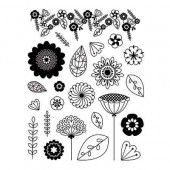 Clear stamps, Flowers
