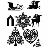 Clear stamps, Christmas - Sleigh