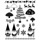 Clear stamps, Christmas - Pixies