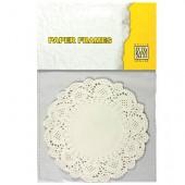 Papier découpe dentelle, Ø11.5cm, blanc, 12 pcs