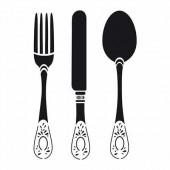 Stencil Cutlery 21x29.7cm