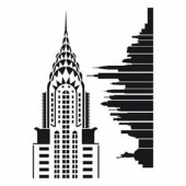 Pochoir A3 New-York