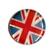 Puck-shaped bead 20mm, Union Jack