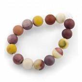 Moukaite beads, 6mm, +/- 60 pcs