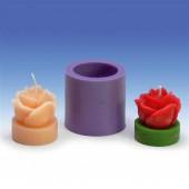 Moule en silicone pour bougie rose