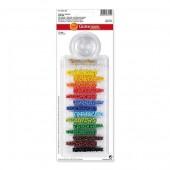 Kit de perles rocailles multicolores opaques