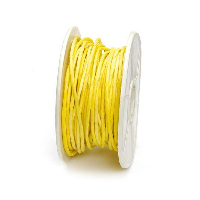 Paper wrap with wire, 1mm/10m, yellow