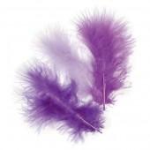 Plumes de marabout, mix violet, 15 pièces, env. 10cm