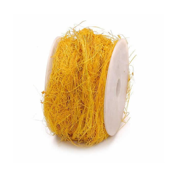 Sisalwrapped wire 10m, yellow