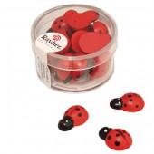 Wooden ladybugs, 1.5cm, 24 pcs