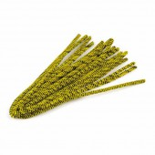 Pipe cleaners, 10 pces, yellow-black