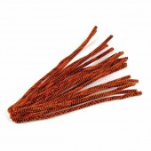 Chenilles (cure-pipe), 10 pièces, orange/noir