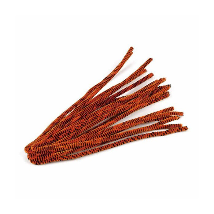 Pipe cleaners, 10 pces, orang-black