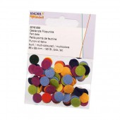 Assorted felt dots, 85mm, 120 pcs