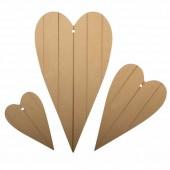 MDF Hearts 18x10 / 12x7 / 8x5cm