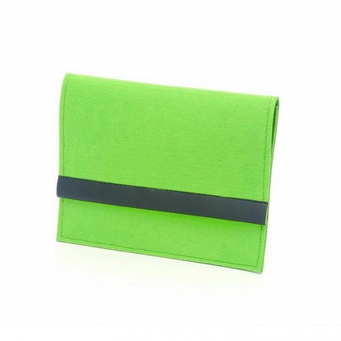iPad felt case, 27x21cm, green