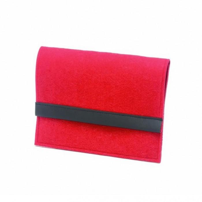 iPad felt case, 27x21cm, red