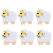 Felt sheep, 45mm, 6 pcs