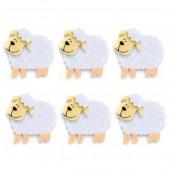 Moutons en feutrine, 45mm, 6 pces
