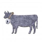 Vaches en feutrine, 55mm, gris, 6 pces