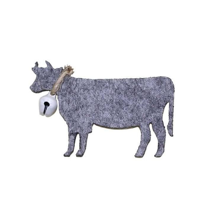 Felt cows, 55mm, 6 pcs