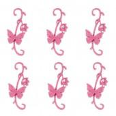Papillons en feutre, 11cm, pink, 6 pcs