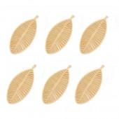 Feuilles en feutre beige, 70mm, 12 pcs