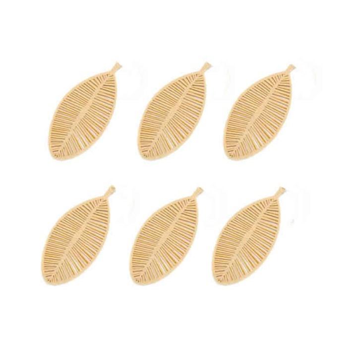 Felt leaves 70mm, light brown, 12 pcs