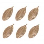 Feuilles en feutre brun, 70mm, 12 pcs