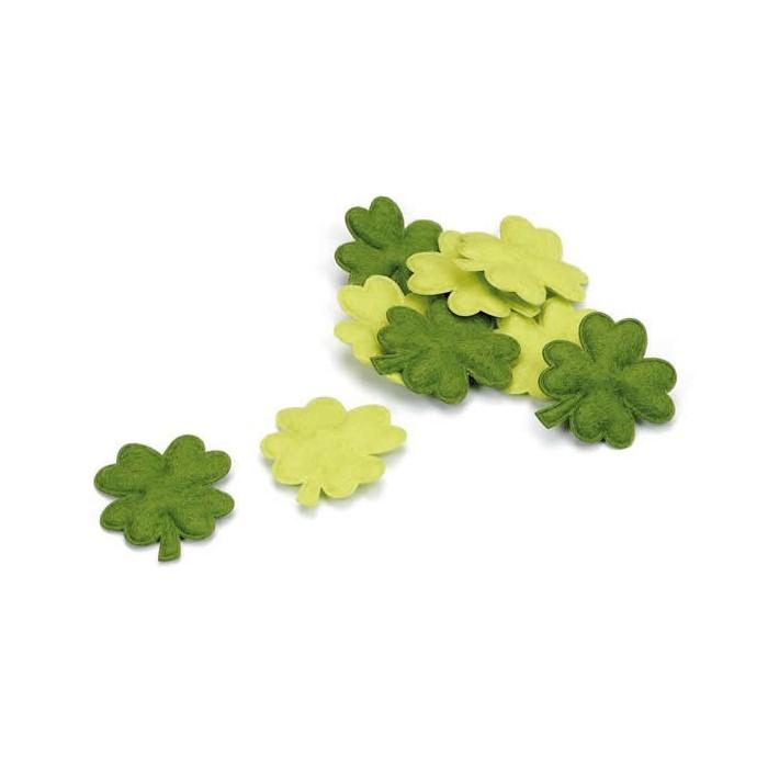 Clover leaves, 3cm, 24pcs