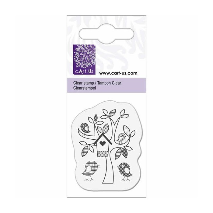 Clear stamp - Birds and tree