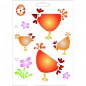 Stencil hens