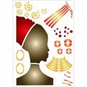Stencil Africa - Woman II