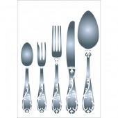 Stencil Cutlery