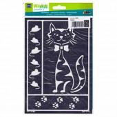 Stencil Cat A5