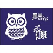 Stencil Owl A5
