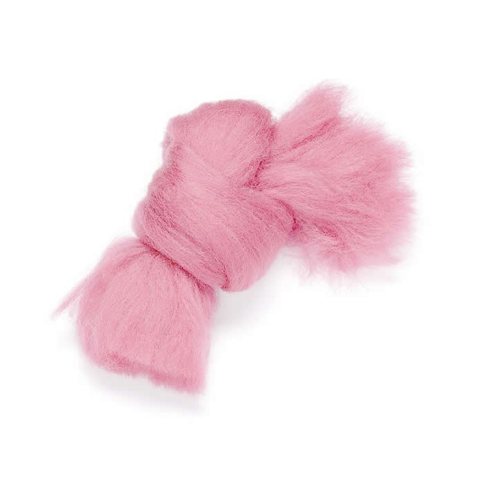 Felting wool, pink