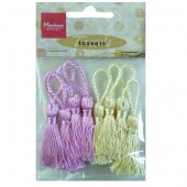 Set of 8 tassels, Romantic