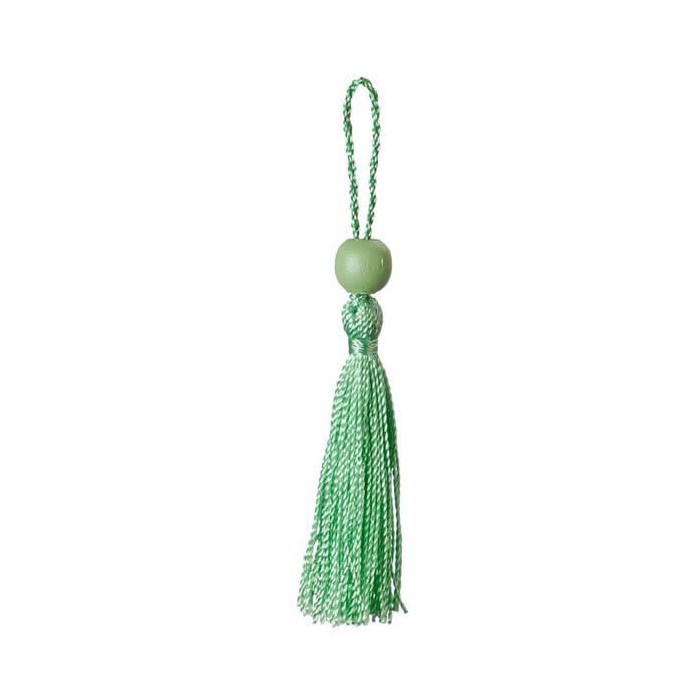 Set of 3 tassels, green