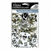Ki-Sign - Tissu thermocollant army vert