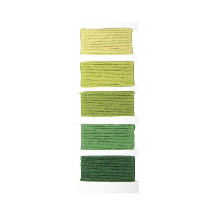 Cotton thread, 5x10m, green