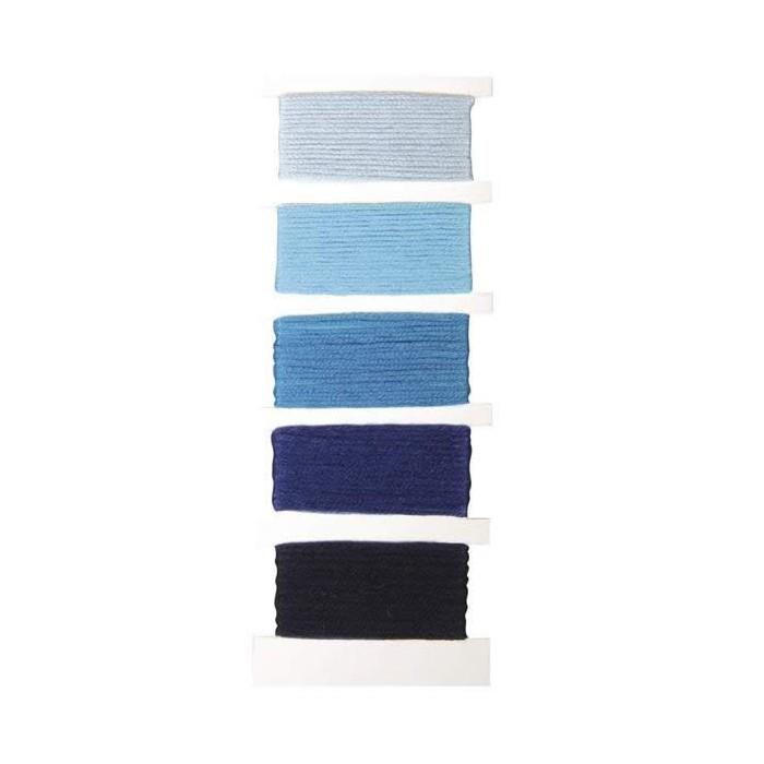 Cotton thread, 5x10m, blue