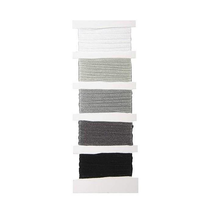 Cotton thread, 5x10m, black