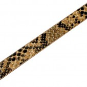 Flat Leather 10mm/1m, snake skin look