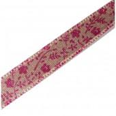 Satin ribbon Fleurs, 8mm/1m