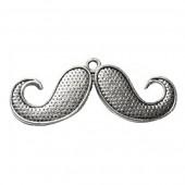 Pendentif Moustache 45x17mm, 1 pce